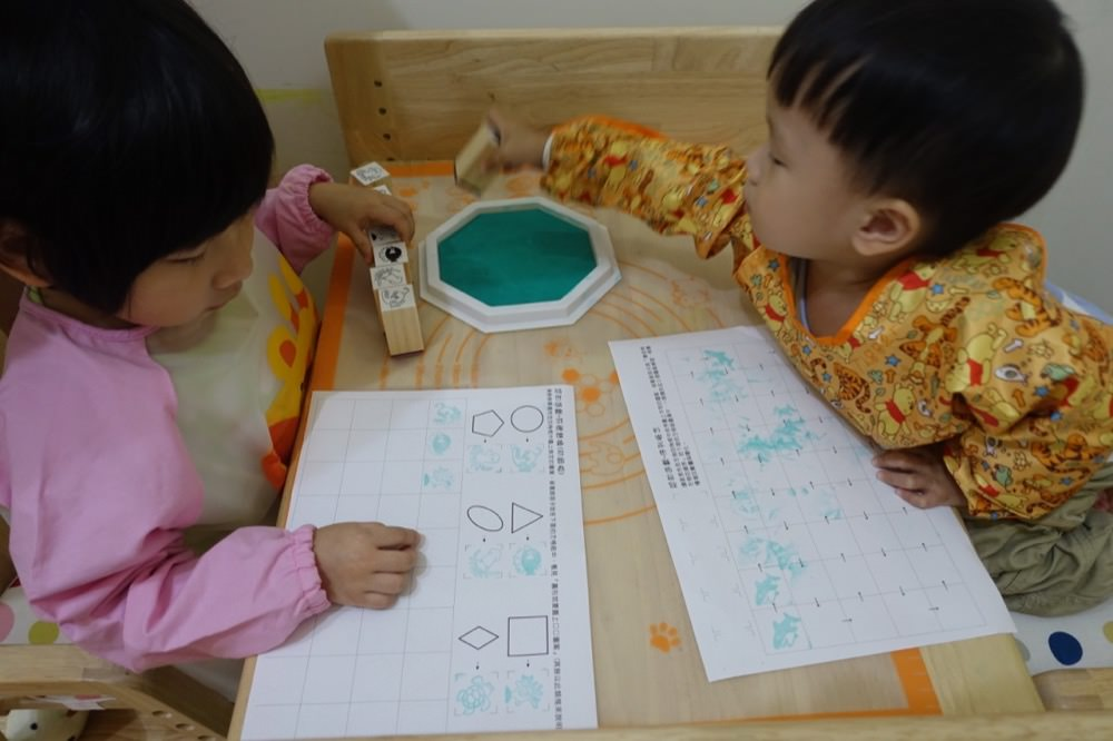 不同年齡不同玩法-無毒水洗大印台&木頭印章