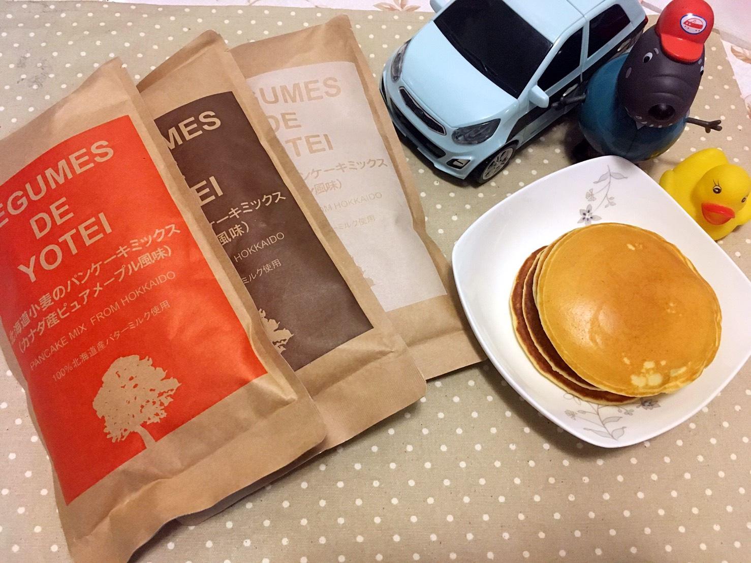 北海道LEGUMES DE YOTEI小麥鬆餅粉,早餐桌上的快速選擇