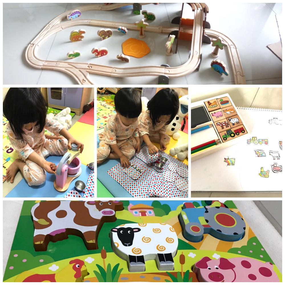 『年度好物團』高質感木玩-英國Bigjigs Toys 侏羅紀恐龍火車軌道,蒙特梭利教具,幼兒拼圖