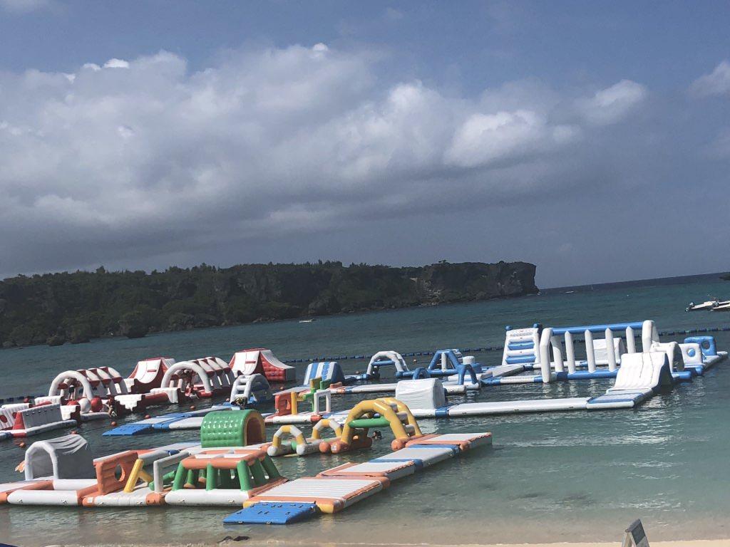 『沖繩』飯店內外都好玩-好寬廣的獨立海灘-ANA萬座海濱洲際酒店