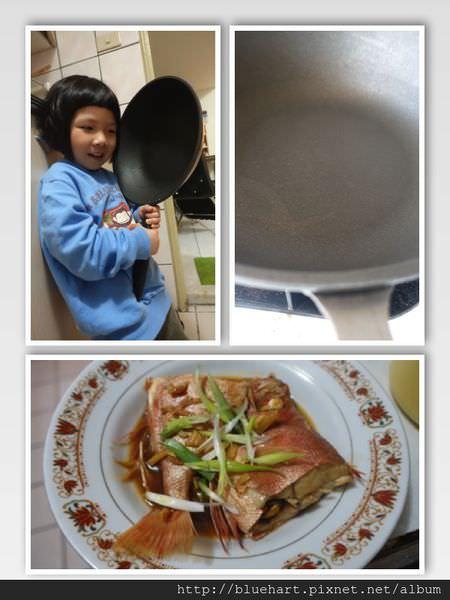 煎魚、紅燒一鍋到底,好煎不黏底●ZAWA鈦讚鍋瓷晶系列28cm平底●-香煎紅燒醬汁魚