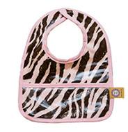 p1-10淺粉紅色斑馬嬰兒圍兜豪華