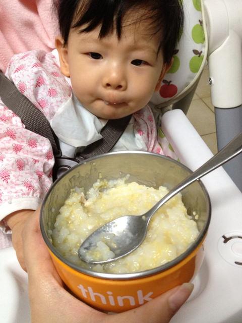 〃『副食品』高麗菜雞肉小米粥〃