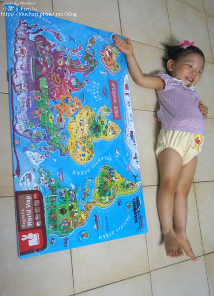 『妮物』用拼圖環遊世界-法國Janod magnetic world puzzle 磁鐵世界地圖木頭拼圖
