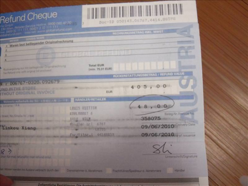 *2010捷克蜜月之可恨的LV退稅單*